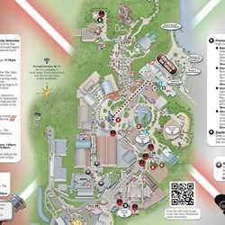 2013 Star Wars Weekends May 17-19 guide map