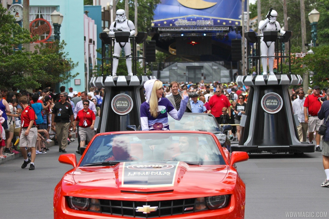 2013 Star Wars Weekends - Weekend 3 Legends of the Force motorcade celebrities