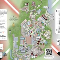 2013 Star Wars Weekends June 7 - June 9 guide map
