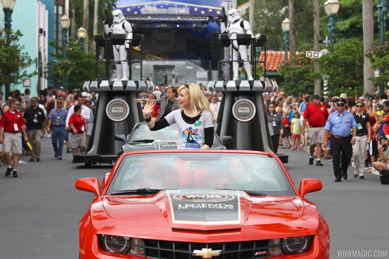 2013 Star Wars Weekends - Weekend 4 Legends of the Force motorcade celebrities