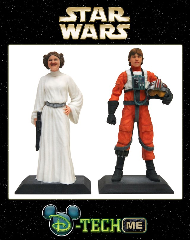 D-Tech Me Alderaan Princess and X-Wing Pilot