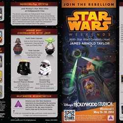 2014 Star Wars Weekends May 16-18 Weekend 1 guide map