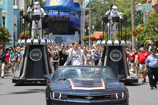 Star Wars Weekends - 2014 Star Wars Weekends - Weekend 1 Legends of the Force motorcade - James Arnold Taylor