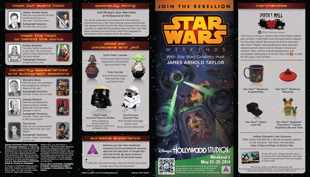 Star Wars Weekends - 2014 Star Wars Weekends May 23 - 25 Weekend 2 guide map front