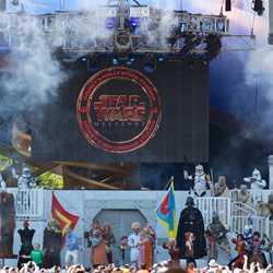 2014 Star Wars Weekends - Weekend 2 Legends of the Force motorcade celebrities