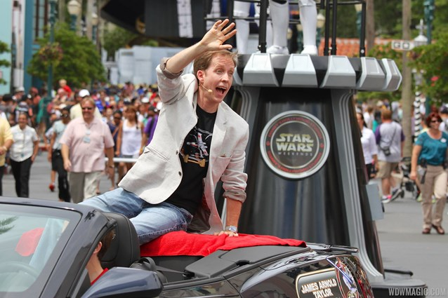 Star Wars Weekends - 2014 Star Wars Weekends - Weekend 3 Legends of the Force motorcade celebrities - James Arnold Taylor