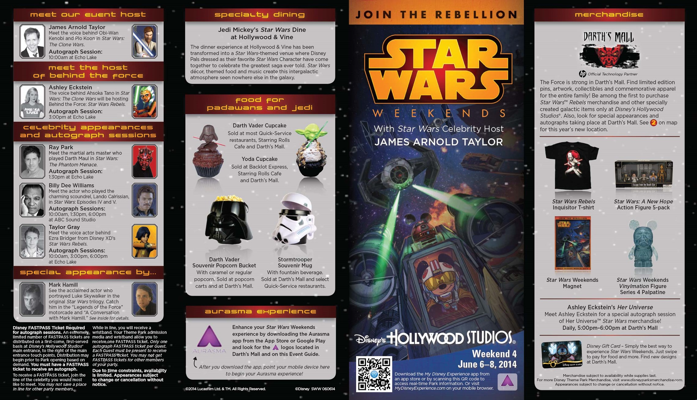2014 Star Wars Weekends June 6 - 8 Weekend 4 guide map