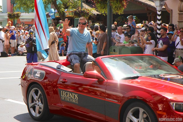 Star Wars Weekends - 2014 Star Wars Weekends - Weekend 4 Legends of the Force motorcade celebrities - Ray Park
