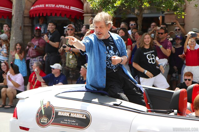 Star Wars Weekends - 2014 Star Wars Weekends - Weekend 4 Legends of the Force motorcade celebrities - Mark Hamill