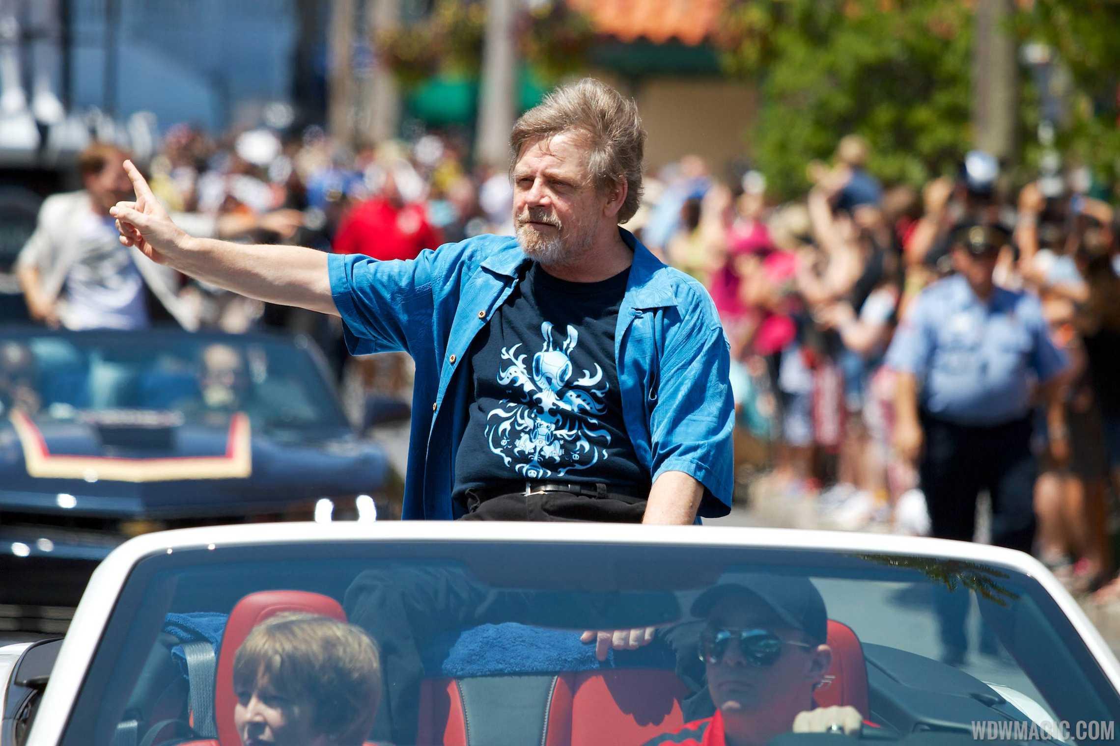 2014 Star Wars Weekends - Weekend 4 Legends of the Force motorcade celebrities - Mark Hamill