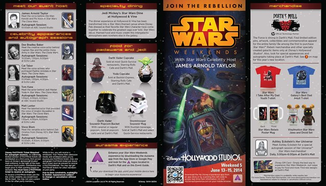 Star Wars Weekends - 2014 Star Wars Weekends June 13 - 15 Weekend 5 guide map