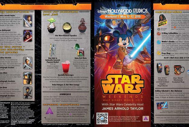 2015 Star Wars Weekends May 15-17 Weekend 1 guide map