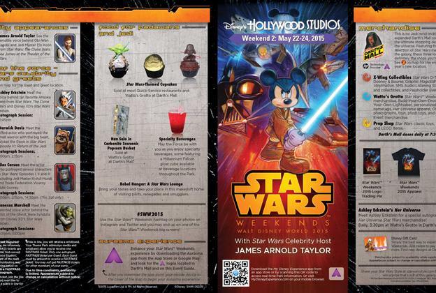 2015 Star Wars Weekends May 22-24 Weekend 2 guide map