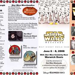 Guide maps from the 2008 Star Wars Weekend event