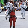 Star Wars Weekends - Aurra Sing and Storm Troopers from Star Wars: Episode I The Phantom Menace