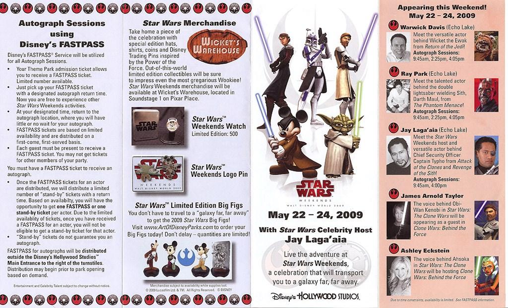 2009 Star Wars Weekends guide map