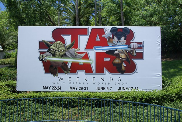 Star Wars Weekends - The Star Wars Weekends main entrance billboard