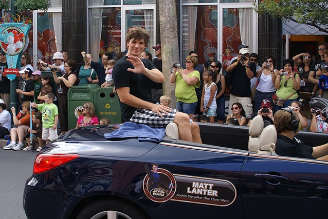 Star Wars Weekends - 2009 Star Wars Weekends Celebrity Motorcade - Matt Lanter (Voice of Anakin Skywalker from the Clone Wars)