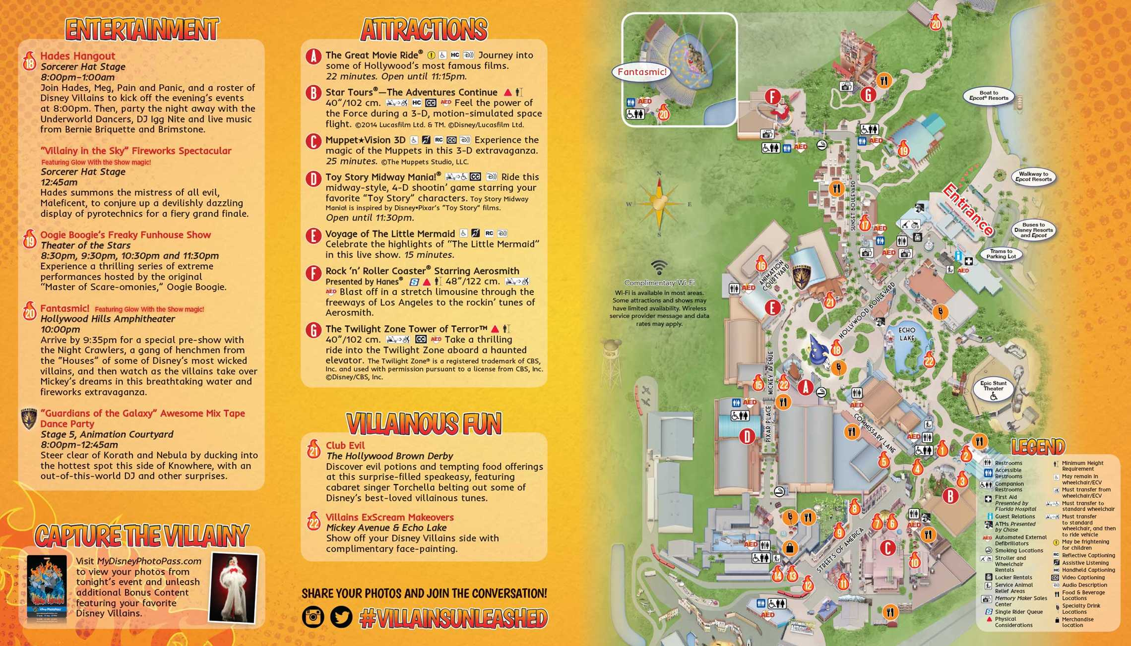 Villains Unleashed guide map - back