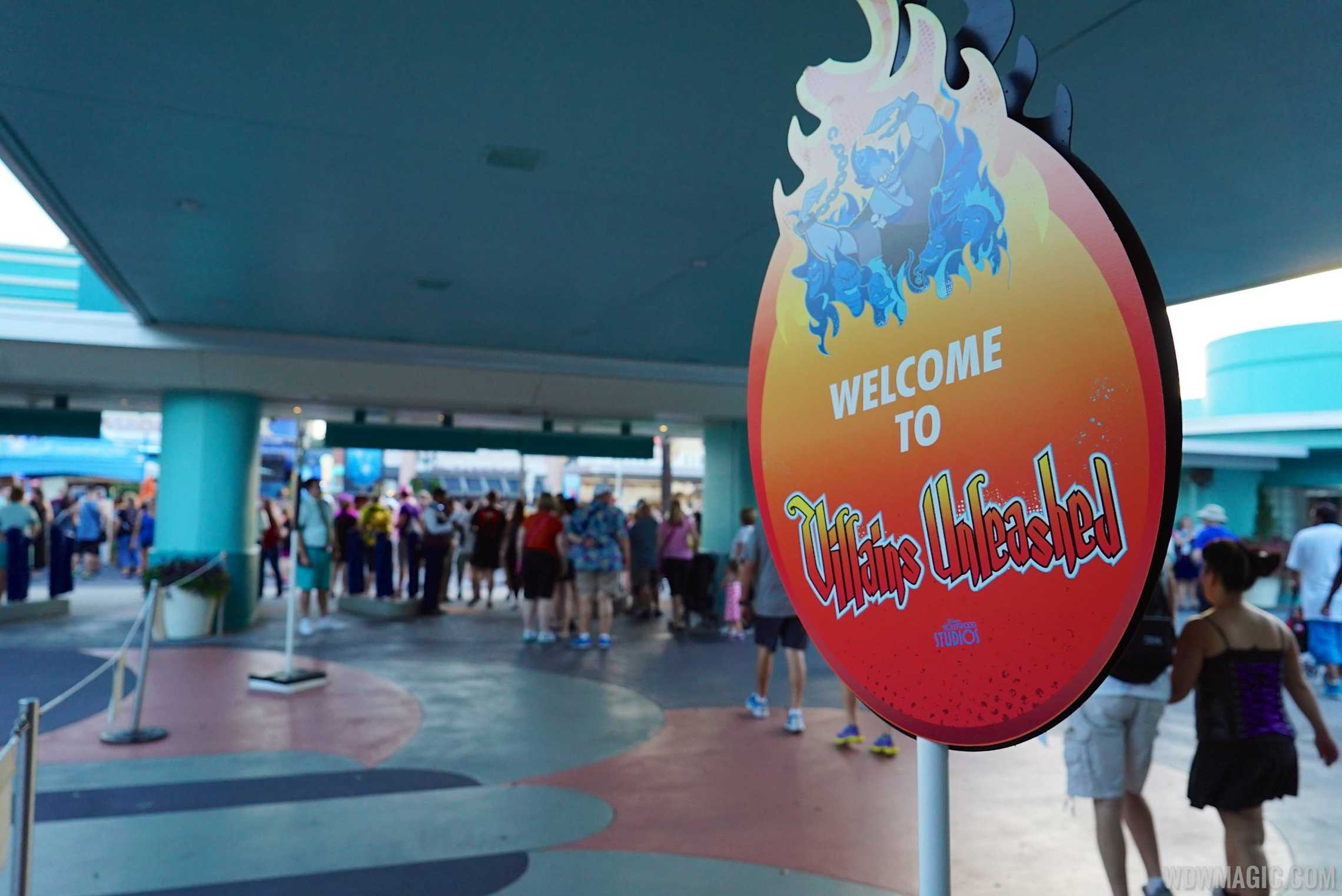 Villains Unleashed - Main Entrance signage