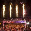 Walt Disney World Marathon Weekend -  Pyrotechnics light the sky Jan. 9, 2011 to signal the beginning of the Walt Disney World Marathon in Lake Buena Vista, Fla.