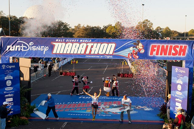 Walt Disney World Marathon Weekend - Winner Fredison Costa crosses the finish line
