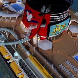2 of 7: Disney Magic - Another angle of the AquaDunk on the Disney Magic