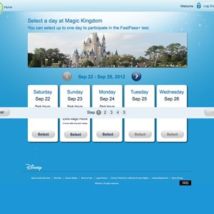 1 of 7: FASTPASS - FASTPASS+ website Step 1