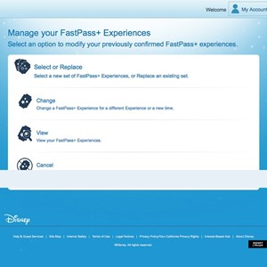 7 of 7: FASTPASS - FASTPASS+ manage your experiences screen