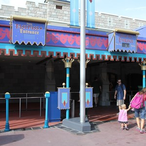 6 of 11: FASTPASS - FASTPASS+ RFID readers in the Mickey's PhilharMagic line