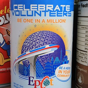 1 of 4: Give a Day, Get a Disney Day - Celebrate Voluntears - A can of Epcot