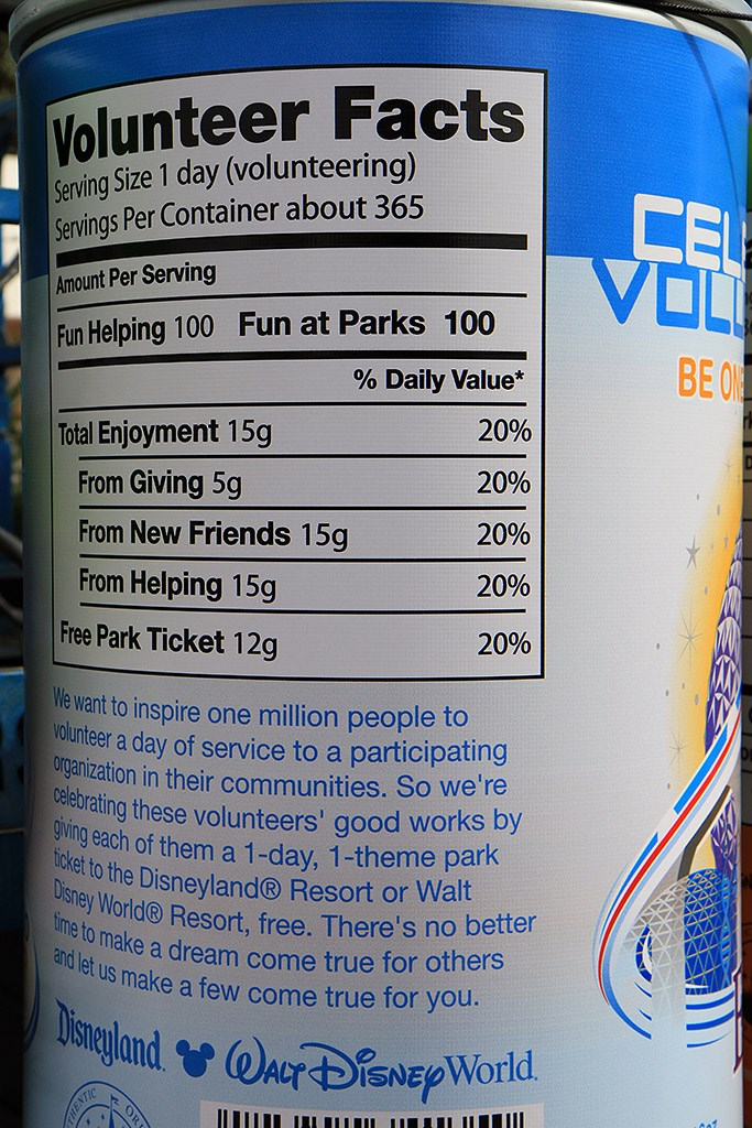 Celebrate Voluntears - A can of Epcot