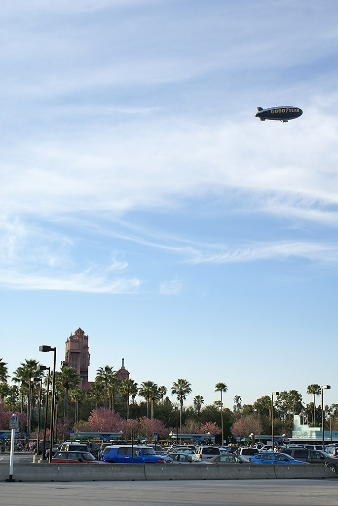 Goodyear Blimp over the Studios for EPSN The Weekend