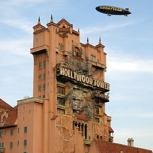 2 of 2: Goodyear Blimp at Walt Disney World - Goodyear Blimp over the Studios for EPSN The Weekend