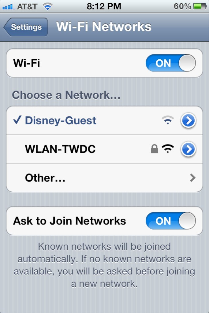 Magic Kingdom WiFi hands-on