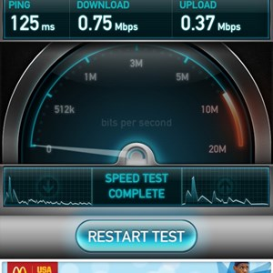 5 of 6: Internet Access - Speed test in Town Square