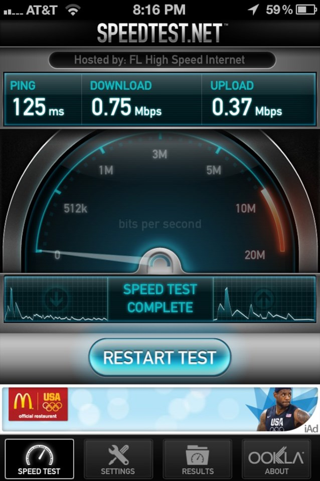 Internet Access - Speed test in Town Square