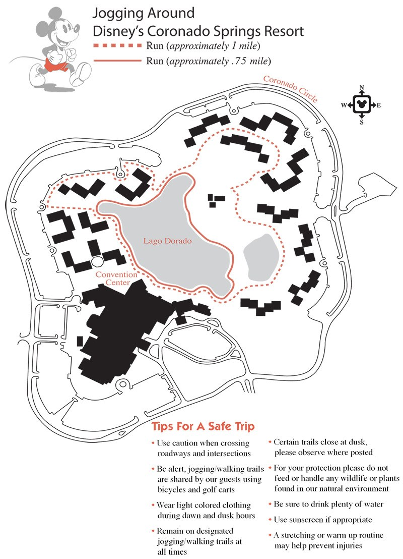 Resort jogging and running maps