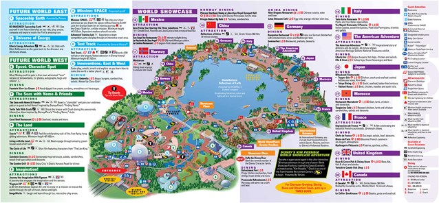 Walt Disney World Park and Resort Maps - Epcot