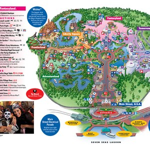 3 of 4: Walt Disney World Park and Resort Maps - Magic Kingdom