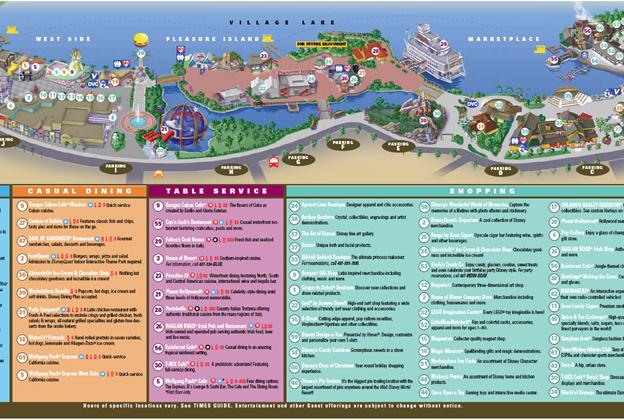 Downtown Disney Map September 2011