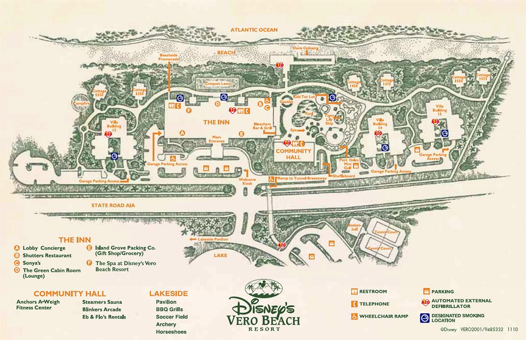 Disney S Vero Beach Resort Map Photo 1 Of 1