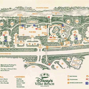 1 of 1: Walt Disney World Park and Resort Maps - Disney's Vero Beach Resort Map