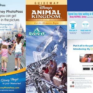 1 of 8: Walt Disney World Park and Resort Maps - Disney's Animal Kingdom guidemap January 2013