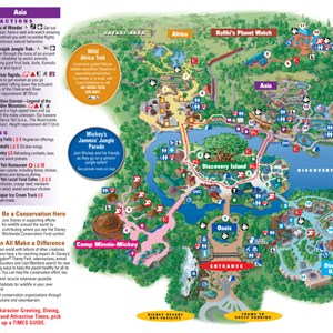 2 of 8: Walt Disney World Park and Resort Maps - Disney's Animal Kingdom guidemap January 2013