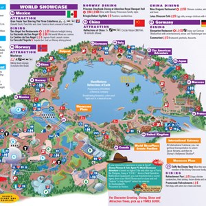4 of 8: Walt Disney World Park and Resort Maps - Epcot guidemap January 2013