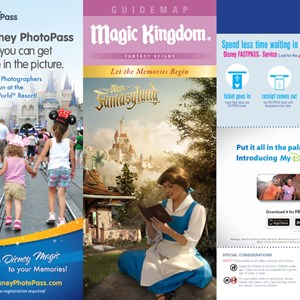 5 of 8: Walt Disney World Park and Resort Maps - Magic Kingdom guidemap January 2013