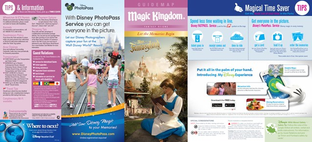 Walt Disney World Park and Resort Maps - Magic Kingdom guidemap January 2013
