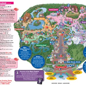 6 of 8: Walt Disney World Park and Resort Maps - Magic Kingdom guidemap January 2013
