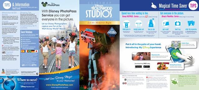 Walt Disney World Park and Resort Maps - Disney's Hollywood Studios guidemap 2013